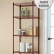 5 Shelf Metal Rolling Tower