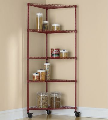 5-Shelf Metal Rolling Corner Rack
