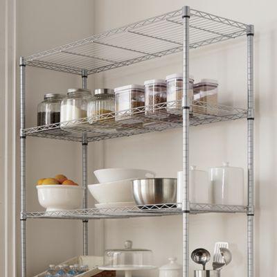 Wide 5-Shelf Metal Rolling Rack