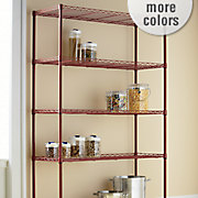 Wide 5 Shelf Metal Rolling Rack