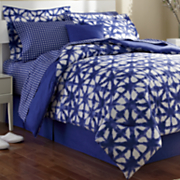 Denim Blue Complete Bedding, Shams, Pillow, and Window Treatments