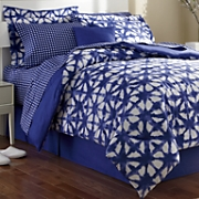 denim blue complete bedding shams pillow and window treatments