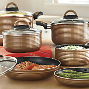 Ginny's  11-Piece Ribbed Cookware Set