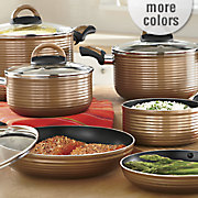 Ginnys Cookware Nonstick 11 Pc Ribbed Set