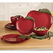 12-Piece Apple Melamine Dinnerware Set