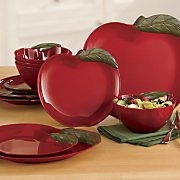 12 Piece Apple Melamine Dinnerware Set