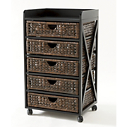Kingston Seagrass 5-Drawer Bureau