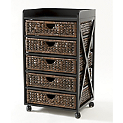 kingston seagrass 5 drawer bureau