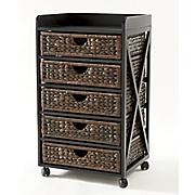 kingston seagrass 5 drawer bureau