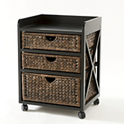 Kingston Seagrass 3-Drawer Bureau