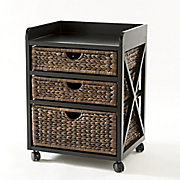 kingston seagrass 3 drawer bureau