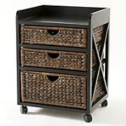kingston seagrass 3 drawer bureau