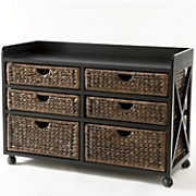 kingston seagrass 6 drawer bureau