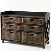 Kingston Seagrass 6-Drawer Bureau