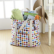 personalized dotty tote