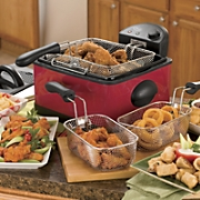 Ginnys Brand 3 5 Qt Deep Fryer and  Set of 3 Filters