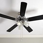 Silvertone Ceiling Fan with Reversible Blades