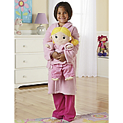 personalized sleepy time doll and child sized robe set
