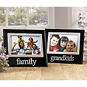 Lettered Glass Family and Grandkids Frames