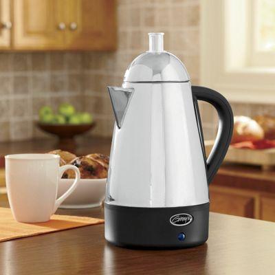 Ginny's Brand Stainless Steel Percolator Coffee Pot