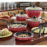 10-Piece Ginny's Brand Nonstick Aluminum Cookware Set
