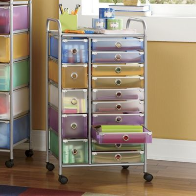 15 drawer colorful craft cart from ginny 39 s 62535. Black Bedroom Furniture Sets. Home Design Ideas