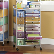 15 Drawer Colorful Craft Cart