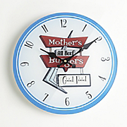 kitchen clock mother s burgers