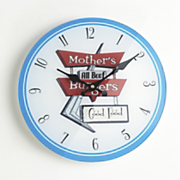 Mother's Burgers Kitchen Clock