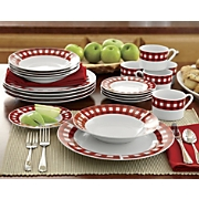 16-Piece Red Gingham...