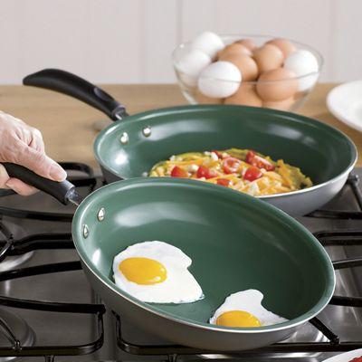 Set of 2 Ceramic Fry Pans