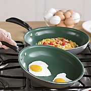 Set of 2 Ceramic Fry Pans