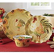 rooster dinnerware set 12 pc