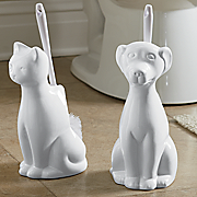cat toilet brush holder