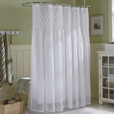 Savannah smocked shower curtain from through the country door 63408