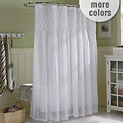 savannah smocked shower curtain