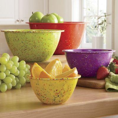 Set of 4 Confetti Bowls