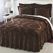 Damask Ruffle Chenille Bedding