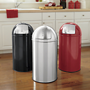 stainless steel trash can 13 gal