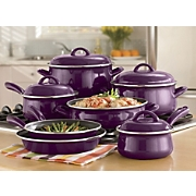11-Piece Non-stick Enamel Cookware