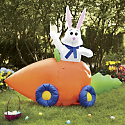 easter bunny carrot car blow up 281