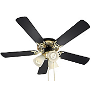 Goldtone Ceiling Fan with Reversible Blades