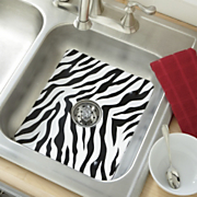animal print sink mat strainer