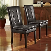 set of 2 double cushioned parson chairs