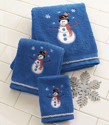 3-Piece Snowman Towel Set