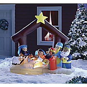 lighted inflatable nativity scene