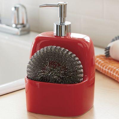 Ceramic Soap Dispenser with Scrubbie