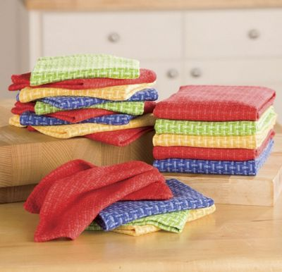 18-Piece Basket Weave Kitchen Towel Set