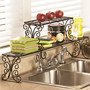 2-Tier Scrolled Over-the-Sink Shelf