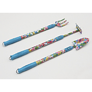 Set of 3 Floral Extended-Handle Garden Tools